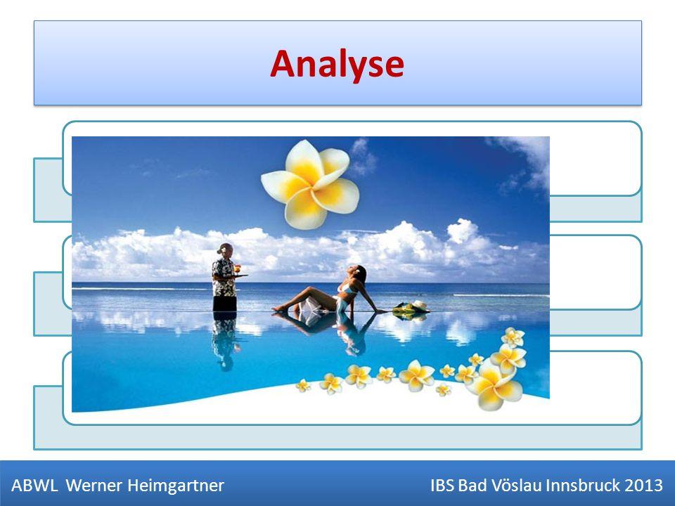 Analyse Soll Ist VergleicheUrsachenanalyse der AbweichungenVorschaurechnung - Forecast ABWL Werner Heimgartner IBS Bad Vöslau Innsbruck 2013