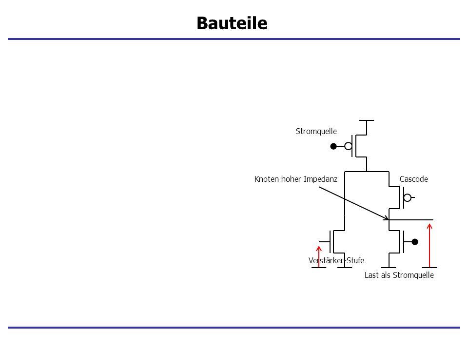 Stromquelle Cascode Last als Stromquelle Verstärker-Stufe Knoten hoher Impedanz