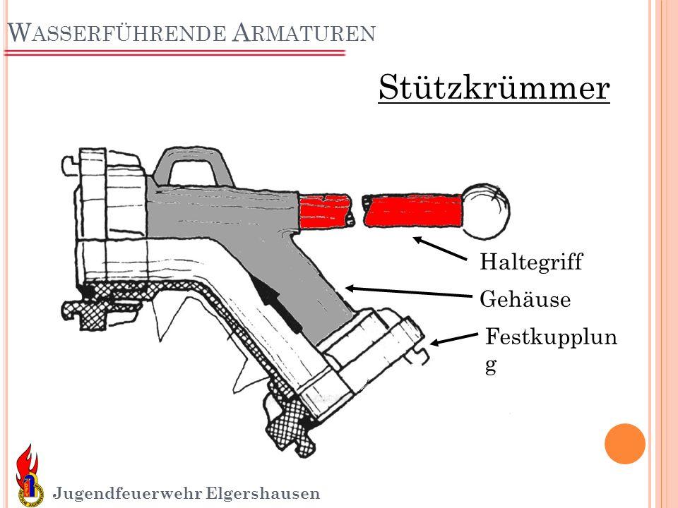 W ASSERFÜHRENDE A RMATUREN Jugendfeuerwehr Elgershausen Haltegriff Gehäuse Festkupplun g Stützkrümmer