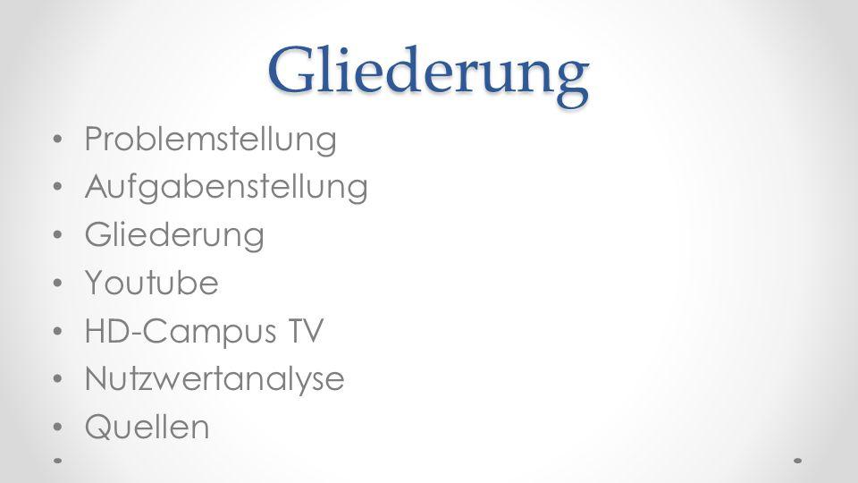 Videos publizieren HD- Campus TV Über VIMP realisiert www.vimp.comwww.vimp.com Multimedial (Video, Audio, Foto, Text) Gemeinsamer Account (xHz)