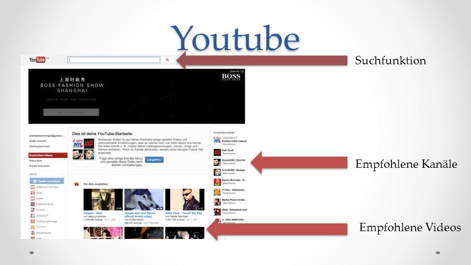Youtube (beziehen sich auf Suchbegriff)