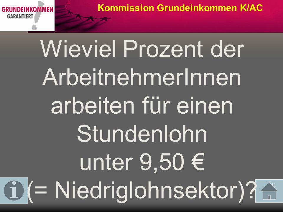 Kommission Grundeinkommen K/AC Wieviel Prozent der Kinder gelten in Deutschland als arm