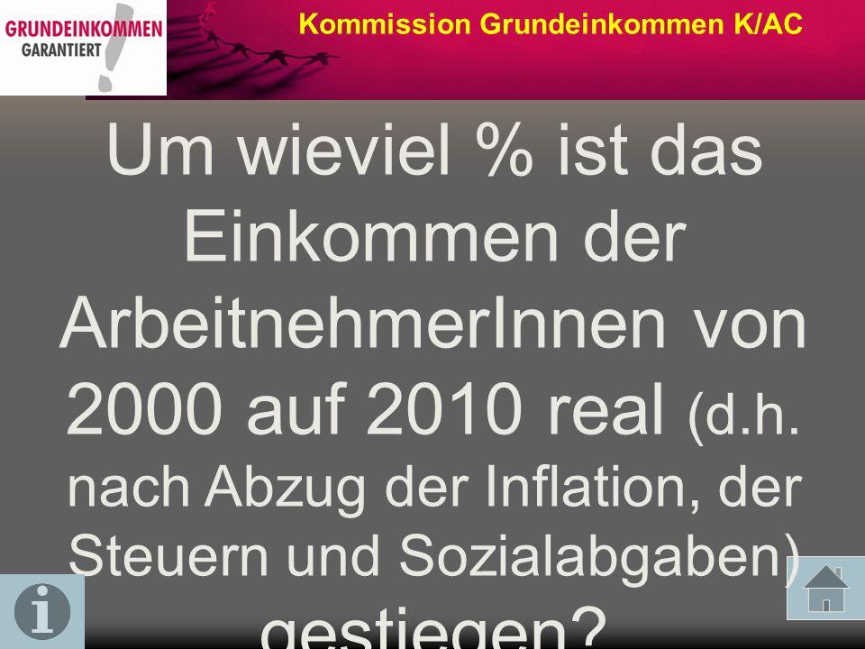Kommission Grundeinkommen K/AC Kann eine Kindergelderhöhung die Einkommensverhältnisse unter ALG II-Beziehern verbessern