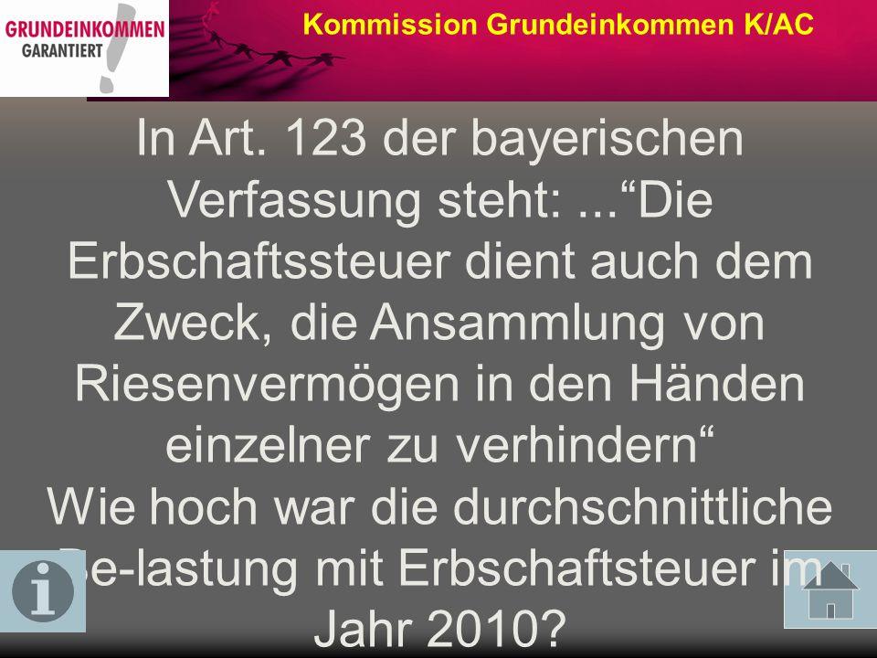 Kommission Grundeinkommen K/AC Wieviel % am Gesamtvermögen von 10.500 Mrd.