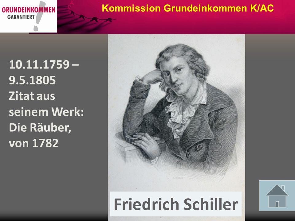 Kommission Grundeinkommen K/AC Thomas Morus 07.02.1478 – 06.07.1535 Utopia 1516