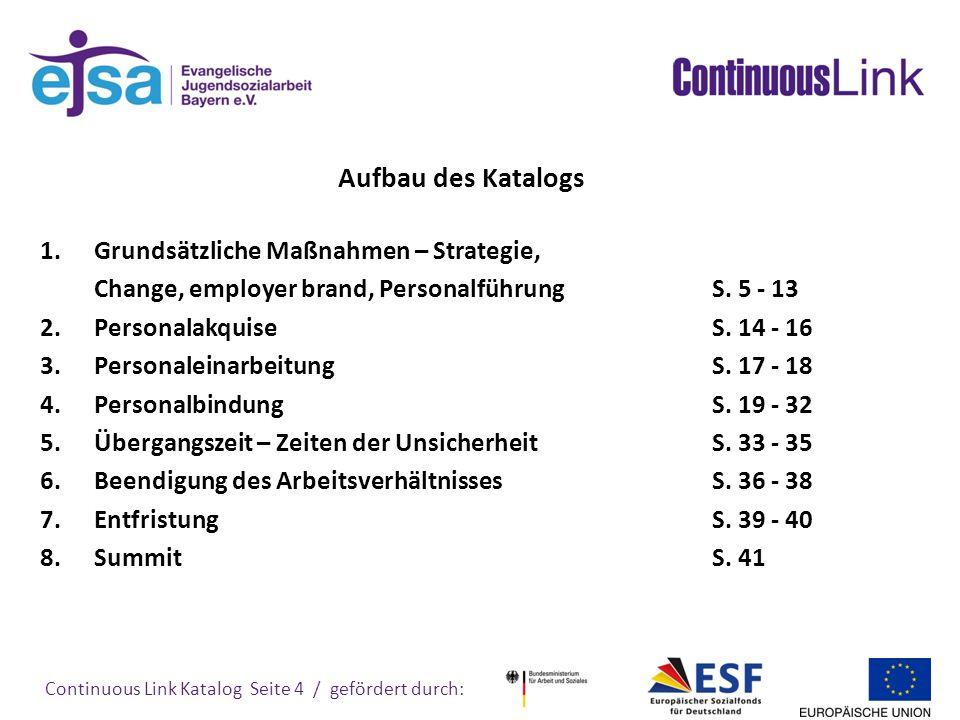 Continuous Link Katalog Seite 5 / gefördert durch: 1.