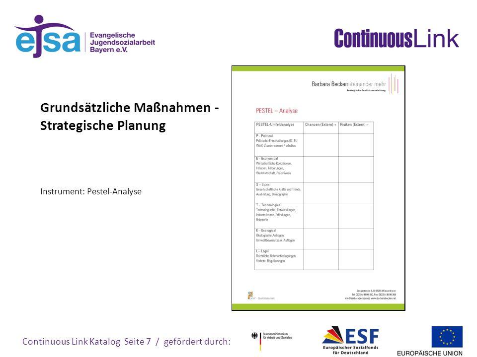Continuous Link Katalog Seite 8 / gefördert durch: 1.