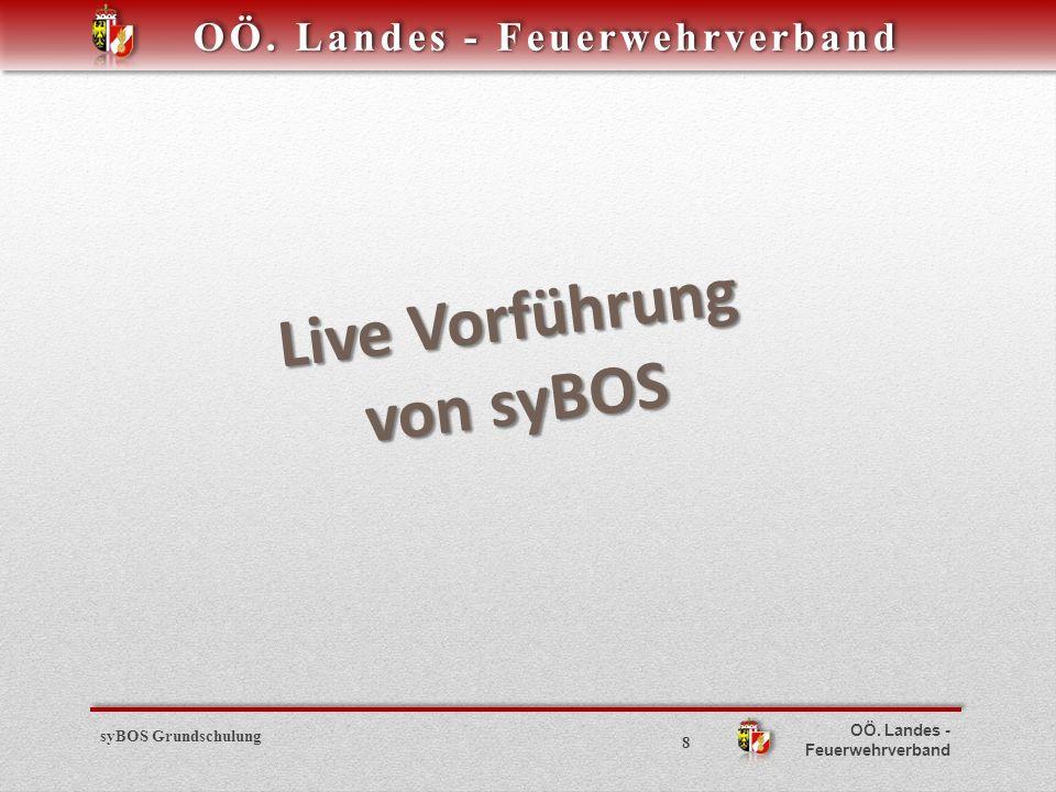 OÖ. Landes - Feuerwehrverband syBOS Grundschulung 8 Live Vorführung von syBOS