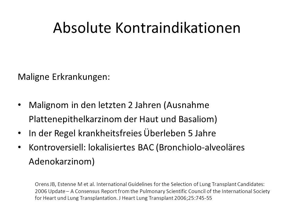 Relative Kontraindikation Intubation und mechanische Beatmung bei CF: Bartz RR et al.