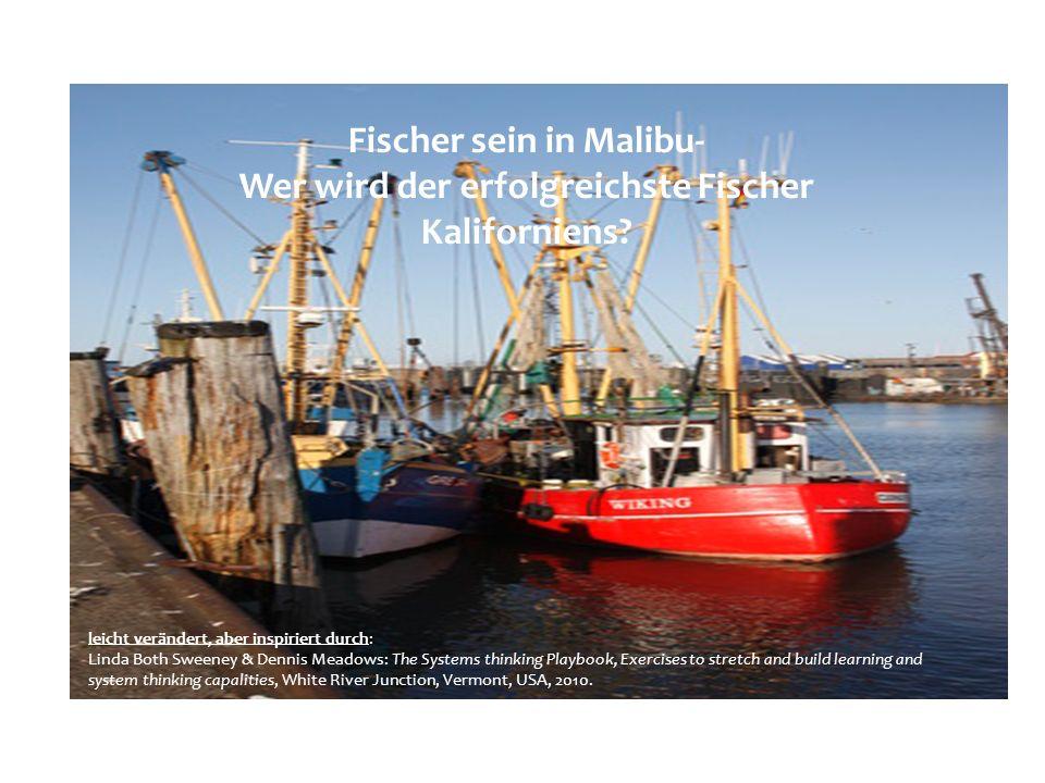 Fischer sein in Malibu- Wer wird der erfolgreichste Fischer Kaliforniens? leicht verändert, aber inspiriert durch: Linda Both Sweeney & Dennis Meadows