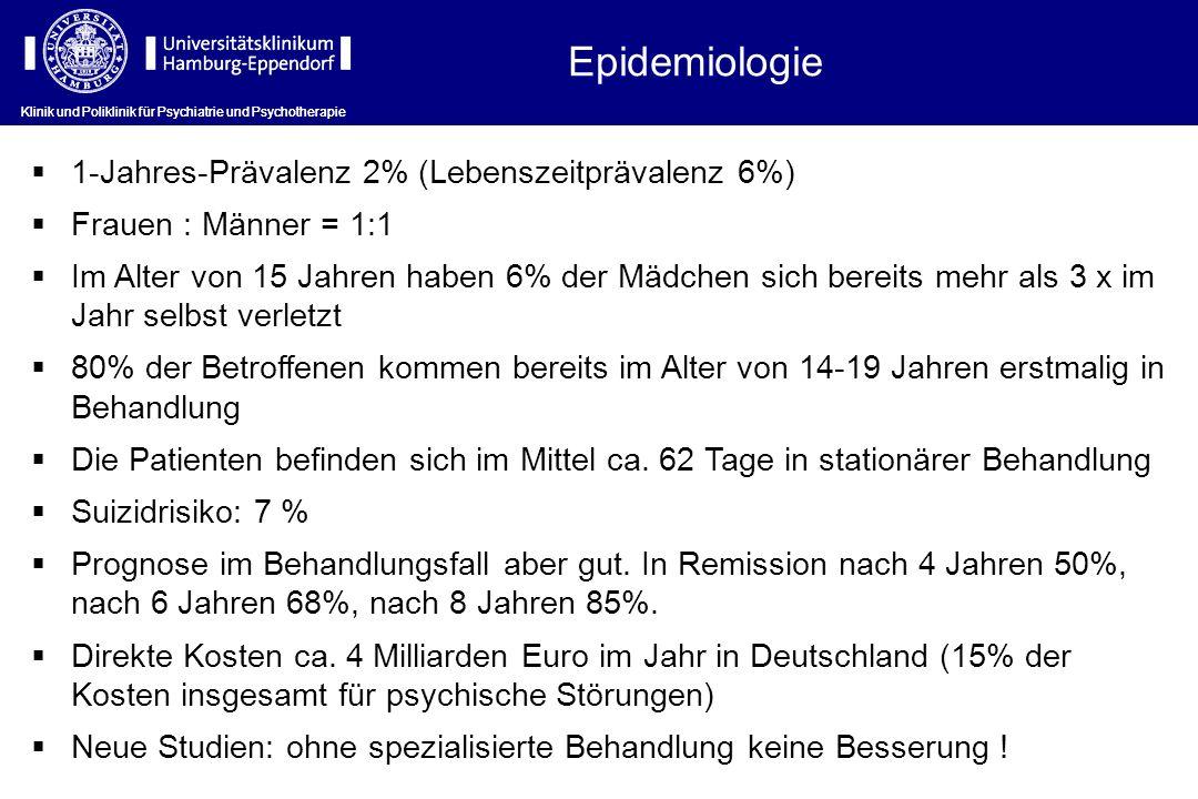 Klinik und Poliklinik für Psychiatrie und Psychotherapie Phasen der stationären DBT 1)Vorbereitungsphase (2 Wochen) 2)Hauptbehandlungsphase (6 Wochen) 3)Abschiedsphase (4 Wochen)