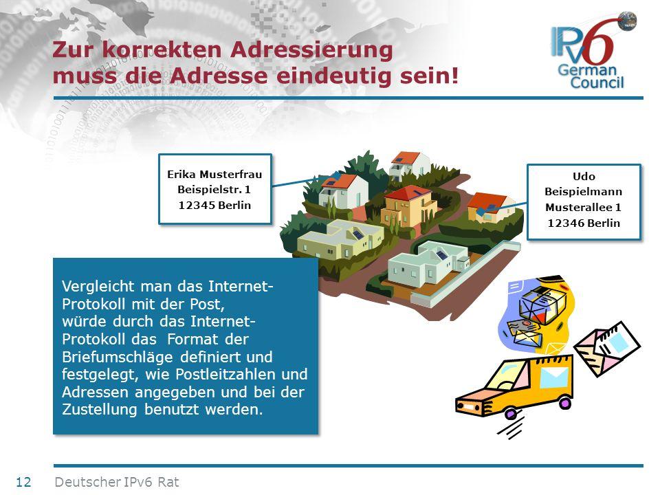 24. Juni 2010 Zur korrekten Adressierung muss die Adresse eindeutig sein! Udo Beispielmann Musterallee 1 12346 Berlin Udo Beispielmann Musterallee 1 1