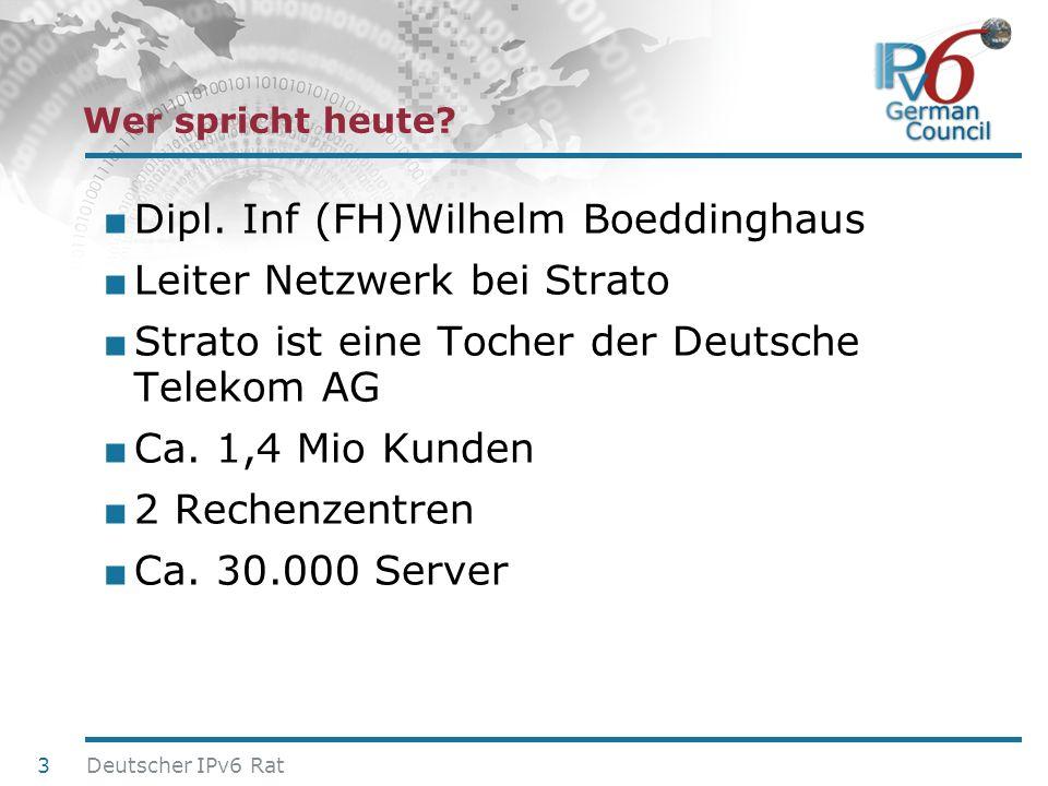 24. Juni 2010 Dipl. Inf (FH)Wilhelm Boeddinghaus Leiter Netzwerk bei Strato Strato ist eine Tocher der Deutsche Telekom AG Ca. 1,4 Mio Kunden 2 Rechen
