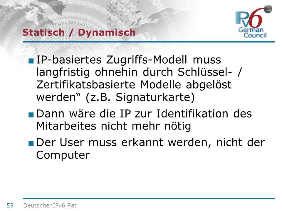 24. Juni 2010 Statisch / Dynamisch IP-basiertes Zugriffs-Modell muss langfristig ohnehin durch Schlüssel- / Zertifikatsbasierte Modelle abgelöst werde