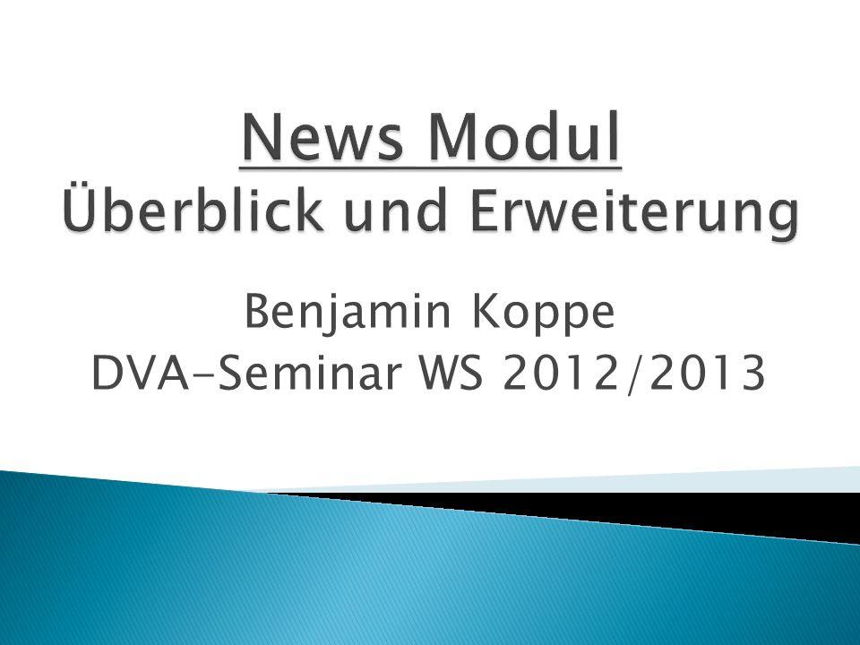 Benjamin Koppe DVA-Seminar WS 2012/2013