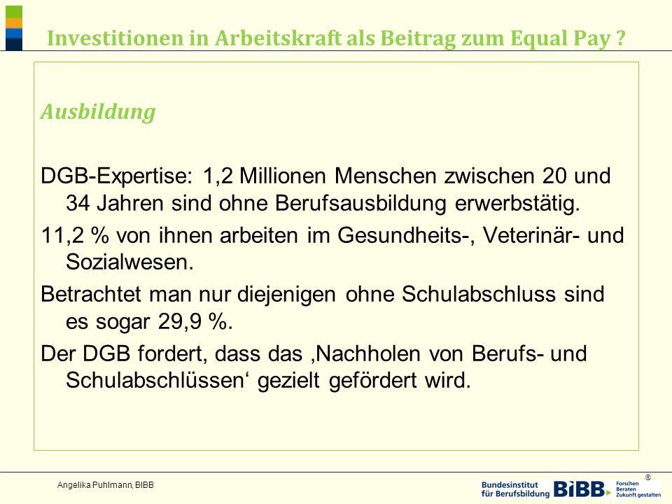 ® Investitionen in Arbeitskraft als Beitrag zum Equal Pay .