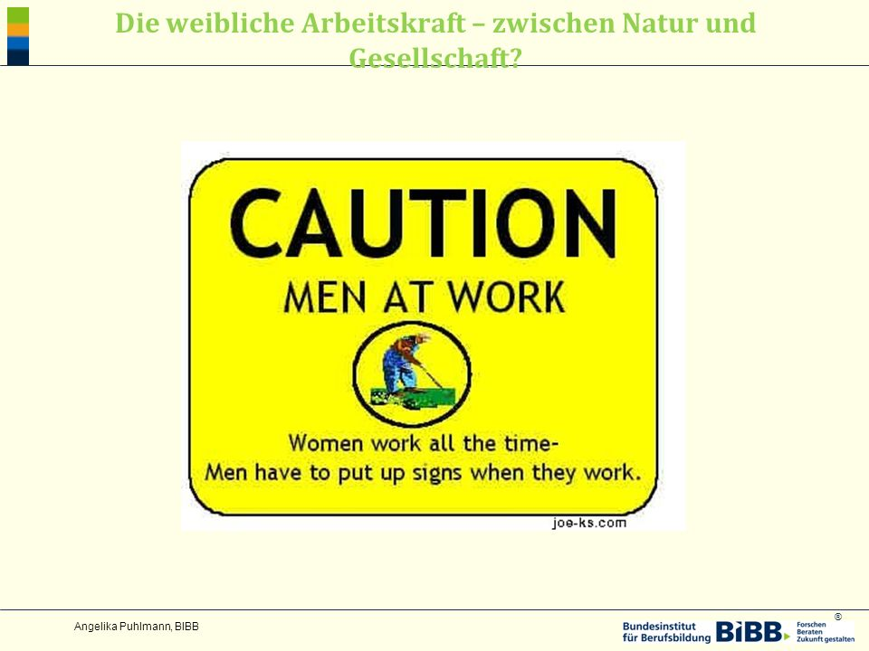 ® Die weibliche Arbeitskraft – zwischen Natur und Gesellschaft? Angelika Puhlmann, BIBB
