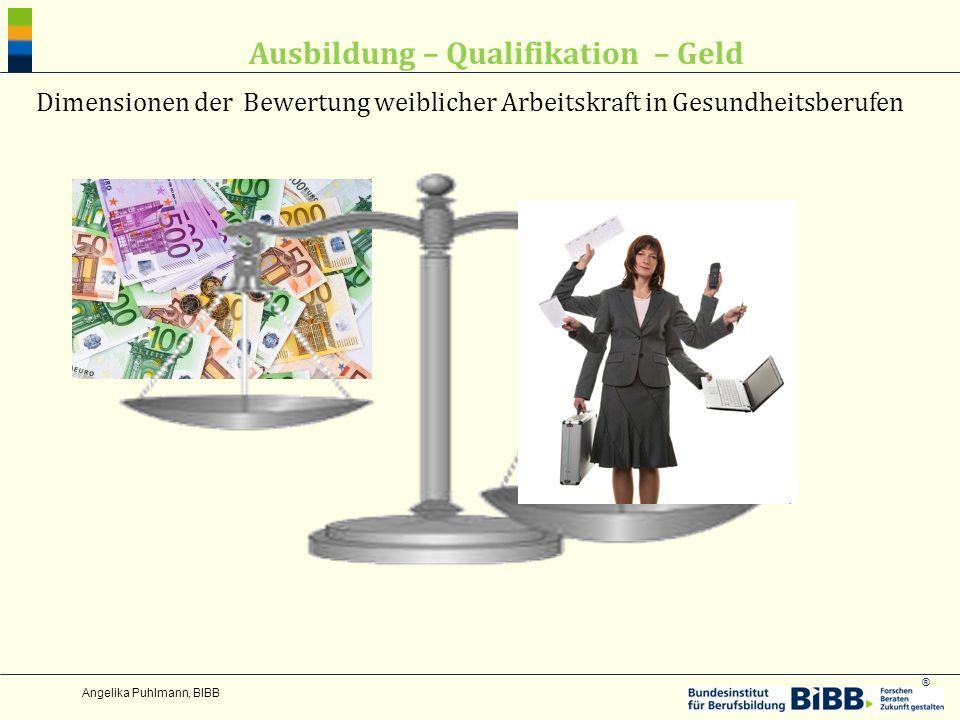 ® Ausbildung – Qualifikation – Geld Dimensionen der Bewertung weiblicher Arbeitskraft in Gesundheitsberufen
