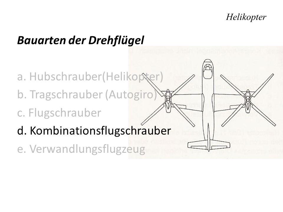 Bauarten der Drehflügel a.Hubschrauber(Helikopter) b.