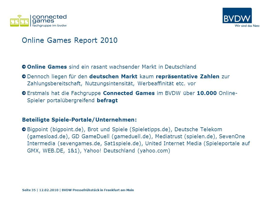 Online Games Report 2010 Online Games sind ein rasant wachsender Markt in Deutschland Dennoch liegen für den deutschen Markt kaum repräsentative Zahle