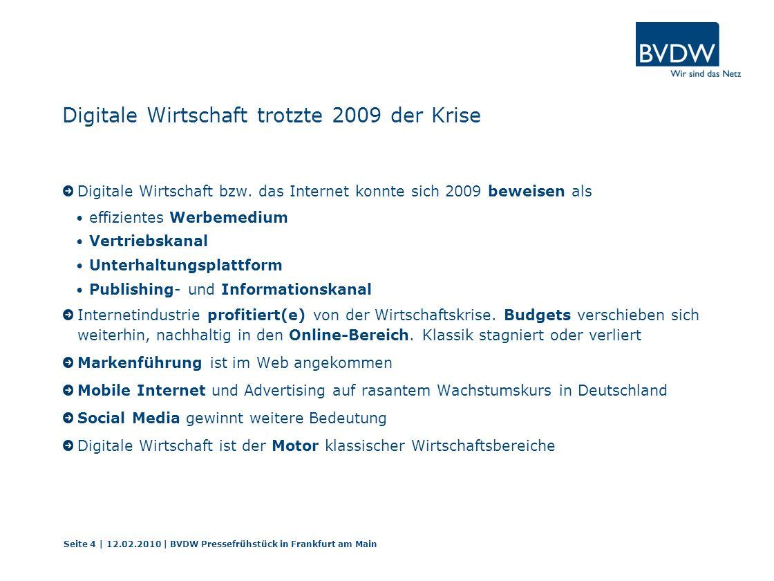 Mobile Kampagnenzählung 2009 Seite 25 | 12.02.2010 | BVDW Pressefrühstück in Frankfurt am Main