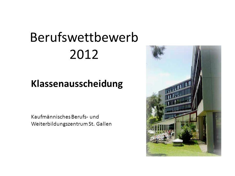Berufswettbewerb 2012 Klassenausscheidung Kaufmännisches Berufs- und Weiterbildungszentrum St.
