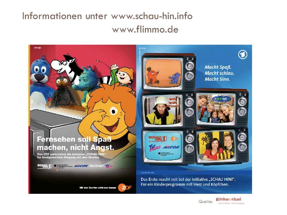 Informationen unter www.schau-hin.info www.flimmo.de Quelle :