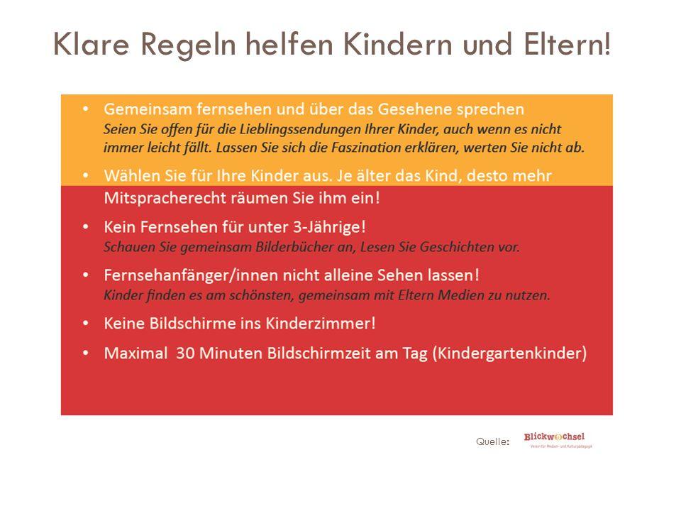 Klare Regeln helfen Kindern und Eltern! Quelle :