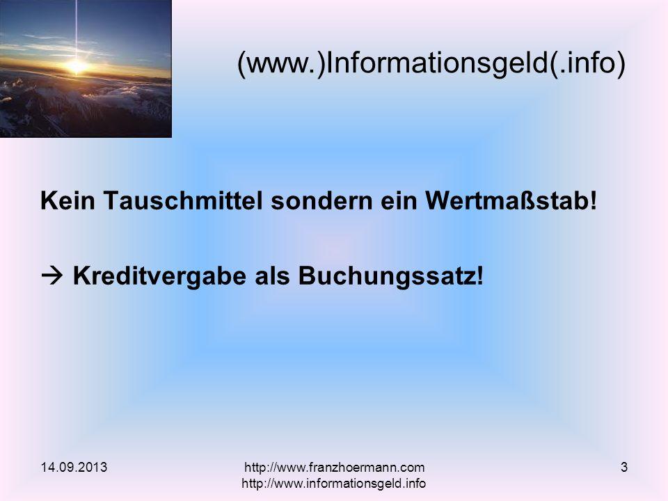 MENSCHENRECHT vor FINANZHERRSCHAFT - Volksbegehren in Österreich - EU-Petition - Kreditopferverein mit anwaltlicher VertretungKreditopferverein Wirtschaftsanwalt im Schuldenstreik (Artikel, Video 1h 05)ArtikelVideo http://www.banken-in-die-schranken.net/ Banken in die Schranken Kreditopferverein 14.09.2013http://www.franzhoermann.com http://www.informationsgeld.info 4