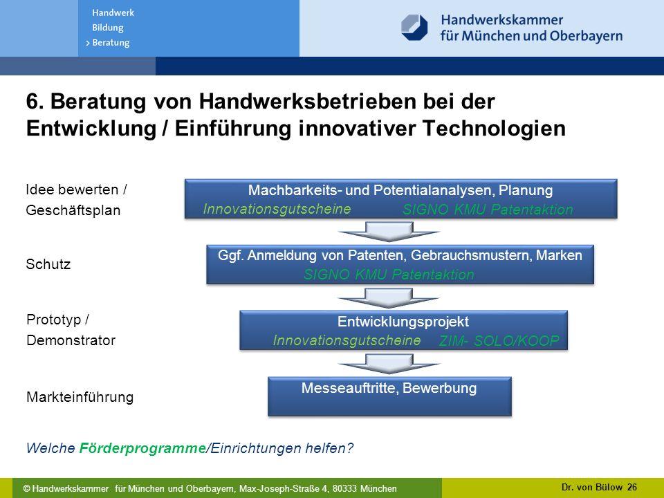 © Handwerkskammer für München und Oberbayern, Max-Joseph-Straße 4, 80333 München 6.