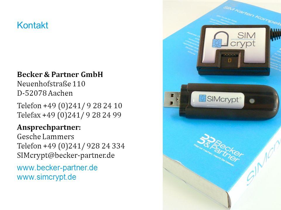 Kontakt Becker & Partner GmbH Neuenhofstraße 110 D-52078 Aachen Telefon +49 (0)241/ 9 28 24 10 Telefax +49 (0)241/ 9 28 24 99 Ansprechpartner: Gesche