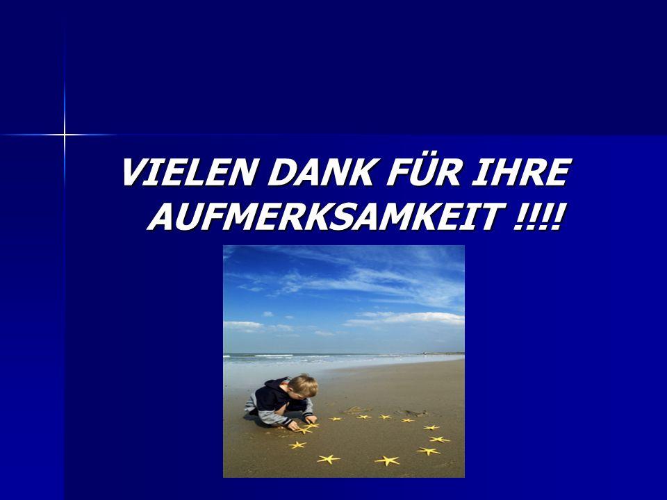 VIELEN DANK FÜR IHRE AUFMERKSAMKEIT !!!!