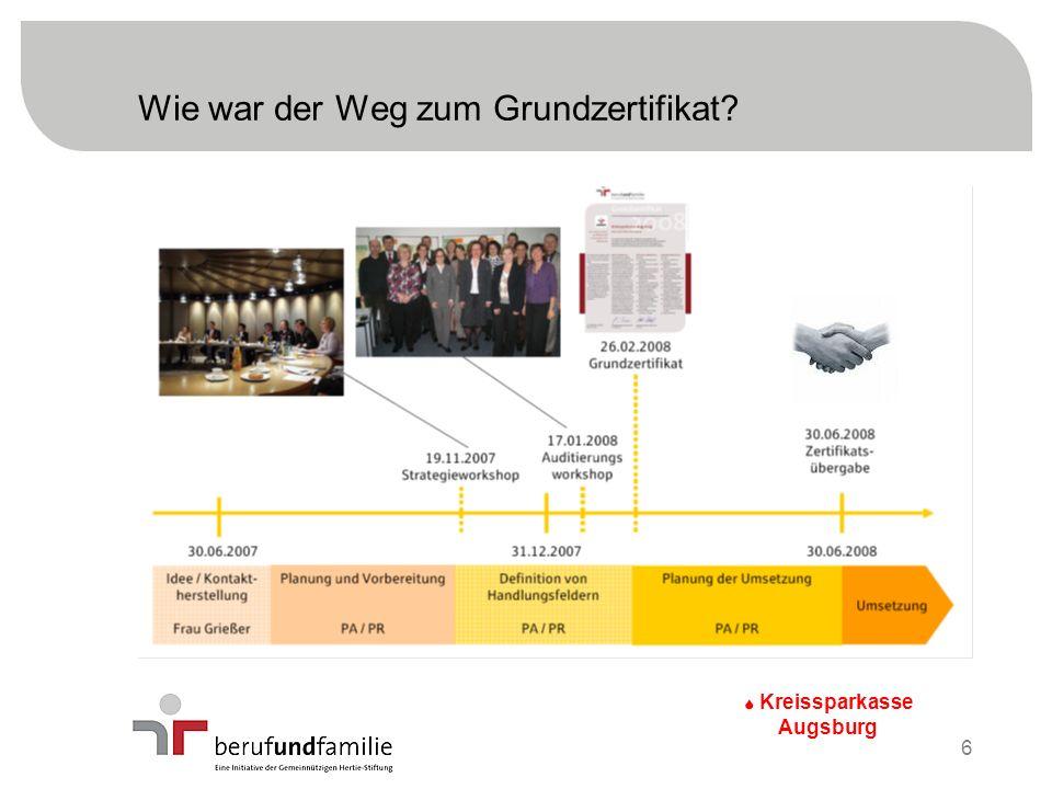 Wie war der Weg zum Grundzertifikat? S Kreissparkasse Augsburg 6