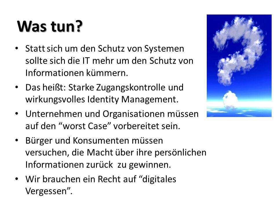 Questions to ask your IT Was bringt Cloud Computing für uns.