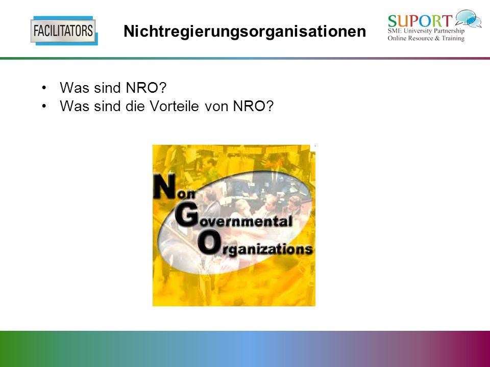Nichtregierungsorganisationen Was sind NRO Was sind die Vorteile von NRO