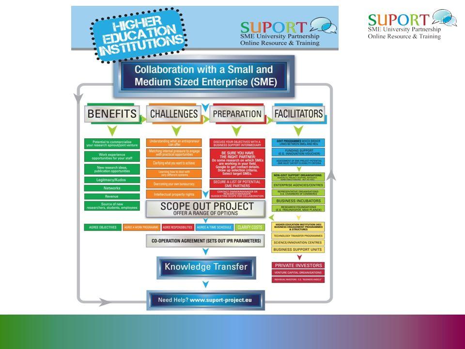 Hochschul- und KMU-Unterstützer: Wichtige Unterstützer und kleinere Staatliche Programme Hochschulprogramme Technologietransferprogramme Innovationszentren (NCN) Kammern