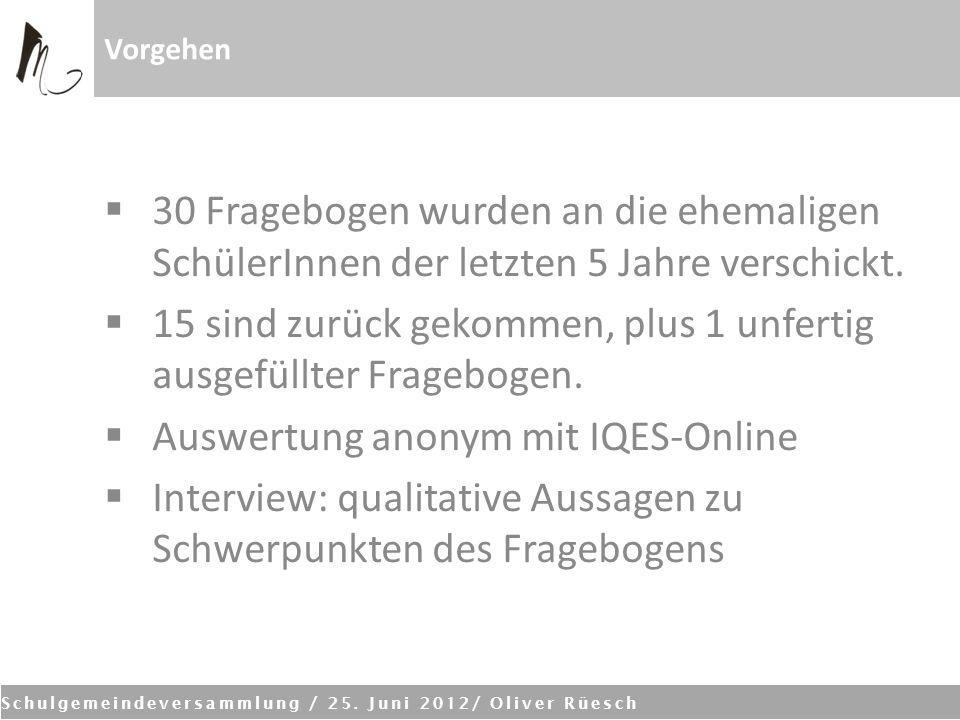 Schulgemeindeversammlung / 25.