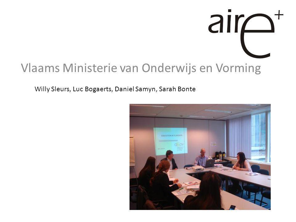 Vlaams Ministerie van Onderwijs en Vorming Willy Sleurs, Luc Bogaerts, Daniel Samyn, Sarah Bonte