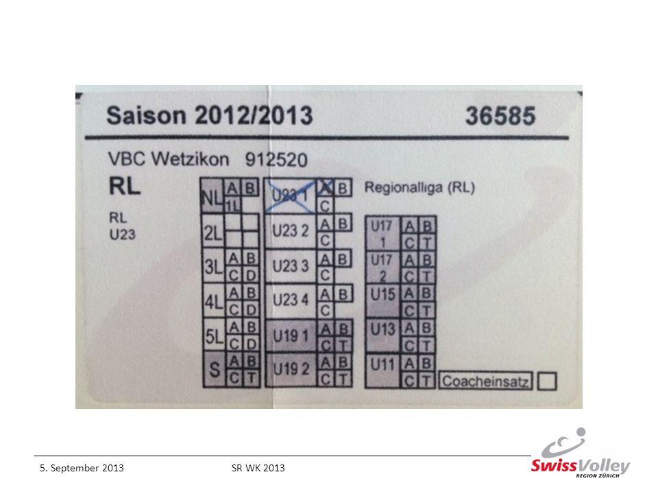 5. September 2013SR WK 2013