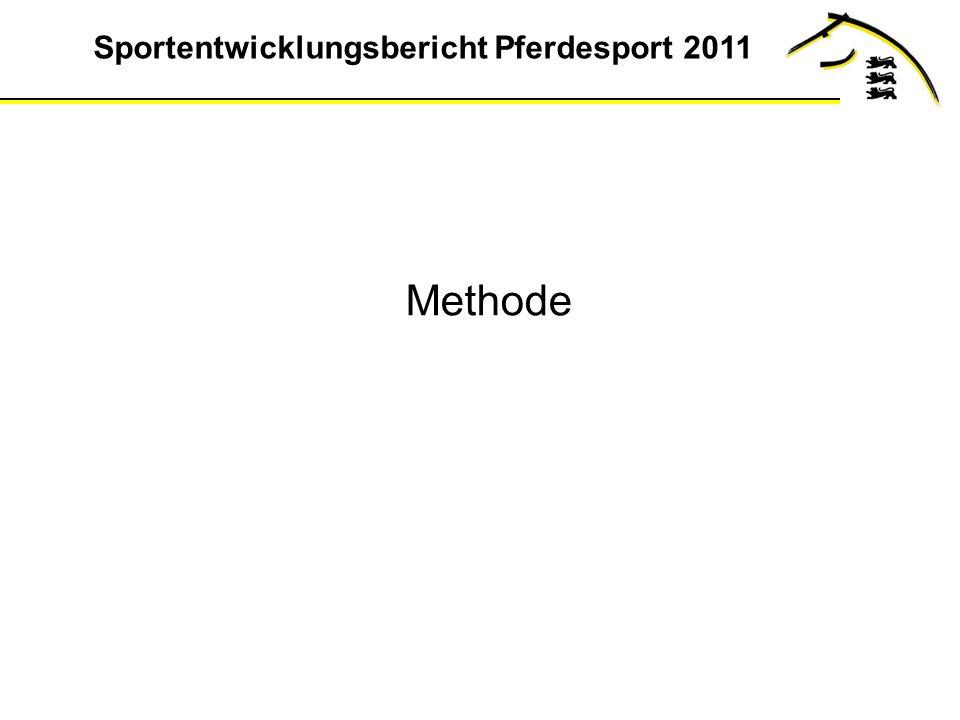 Sportentwicklungsbericht Pferdesport 2011 Methode