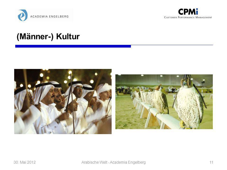 (Männer-) Kultur 30. Mai 201211Arabische Welt - Academia Engelberg