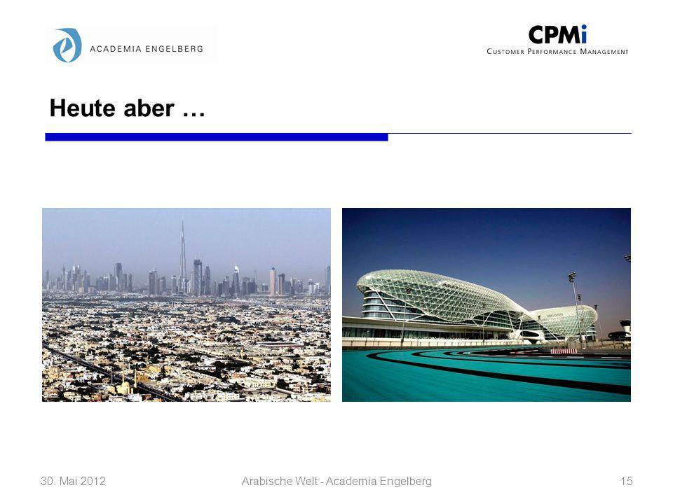 Heute aber … 30. Mai 201215Arabische Welt - Academia Engelberg