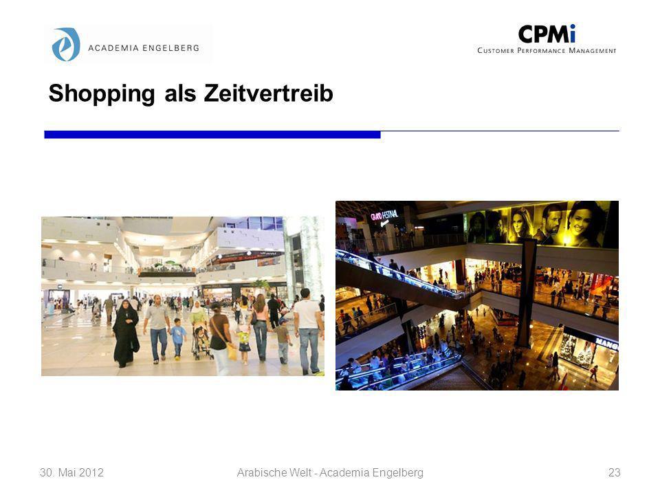 Shopping als Zeitvertreib 30. Mai 201223Arabische Welt - Academia Engelberg
