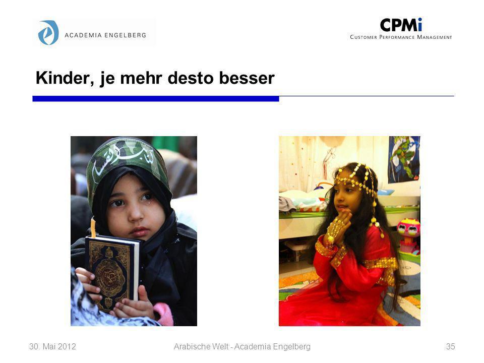 Kinder, je mehr desto besser 30. Mai 201235Arabische Welt - Academia Engelberg