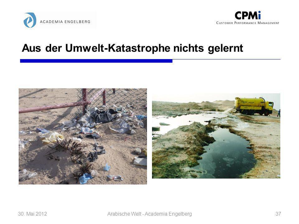 Aus der Umwelt-Katastrophe nichts gelernt 30. Mai 201237Arabische Welt - Academia Engelberg