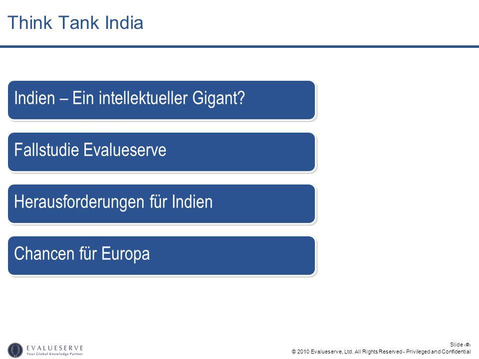 © 2010 Evalueserve, Ltd. All Rights Reserved - Privileged and Confidential Slide 2 Fallstudie Evalueserve Indien – Ein intellektueller Gigant? Herausf