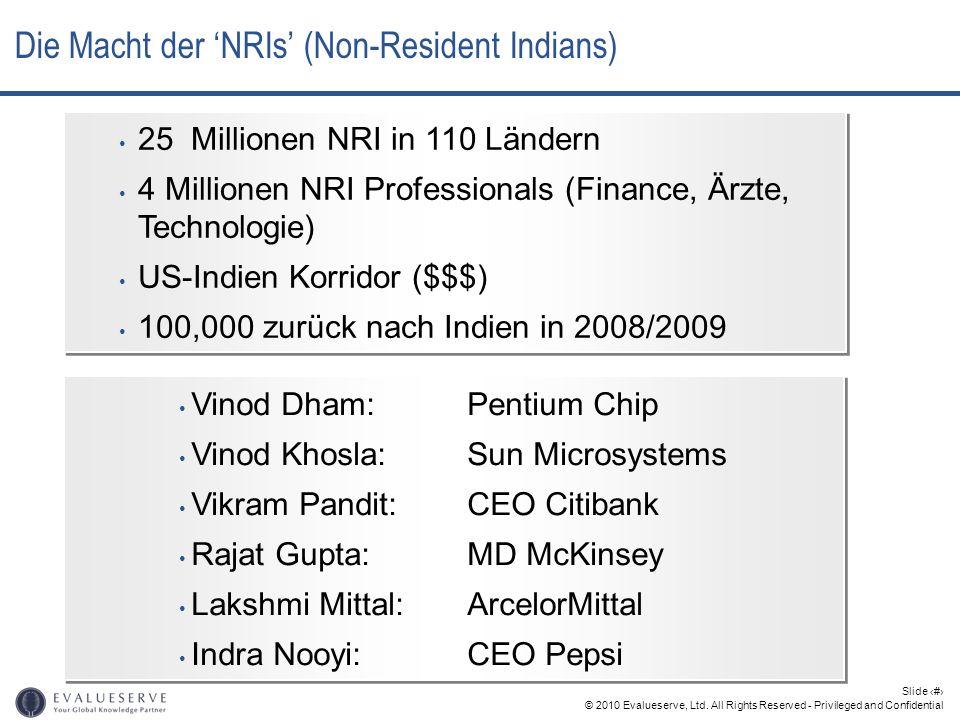 © 2010 Evalueserve, Ltd. All Rights Reserved - Privileged and Confidential Slide 8 Die Macht der NRIs (Non-Resident Indians) Vinod Dham: Pentium Chip