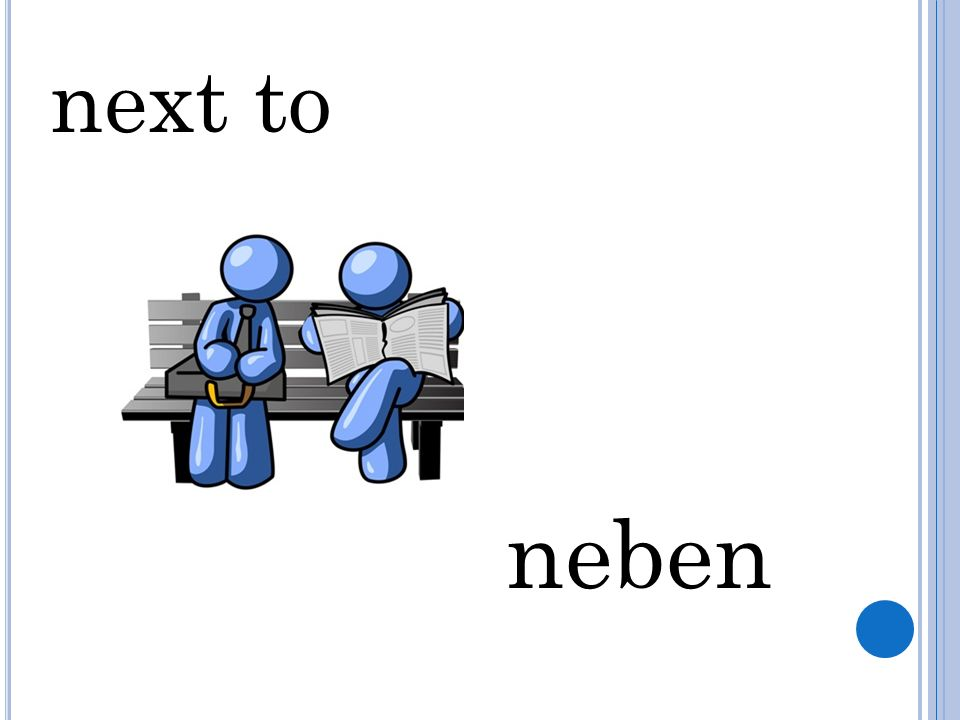 next to neben