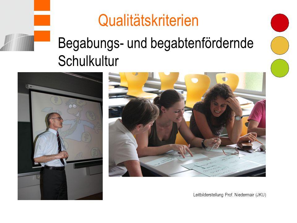 Begabungs- und begabtenfördernde Schulkultur Qualitätskriterien Leitbilderstellung Prof.