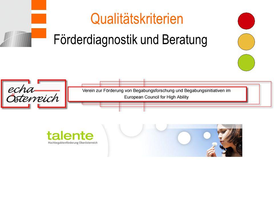Förderdiagnostik und Beratung Qualitätskriterien